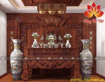 Phòng thờ thiết kế truyền thống